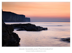 Photo: #ThirstyThursdayPics  Chalk Cliffs at Sunset  Another shot from my shoot at Flamborough Head on the Yorkshire Coast this summer. A twilight sky adds a glow to the receding tide near Thornwick Nab.  Canon EOS 5D, 24-105mm at 105mm, ISO 50, 3.2s at f22