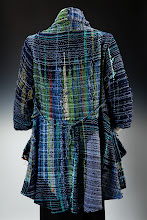 """Photo: my designed and woven """" koi pond """"jacket  (sold)"""