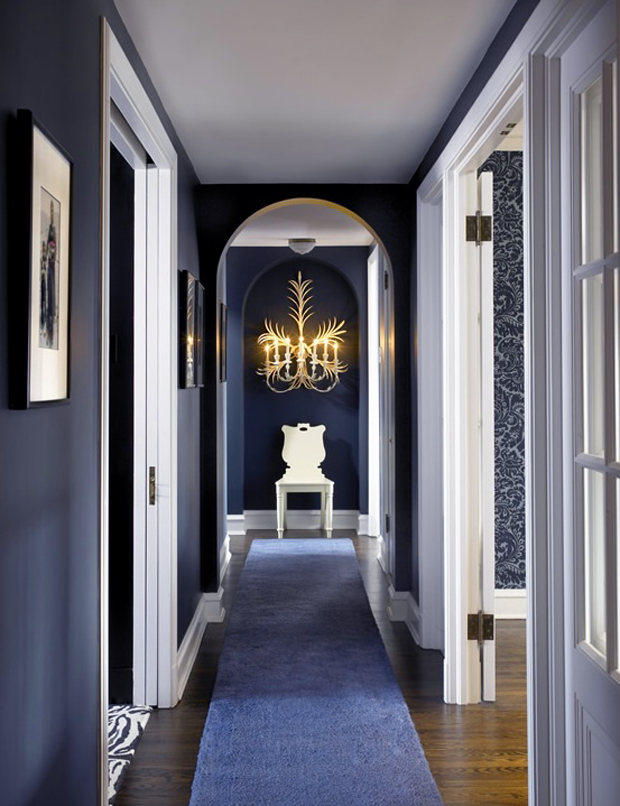 Dramatic-Styled Hallway Wall