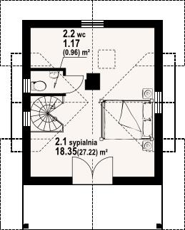 Gajowo 68 dws - Rzut poddasza