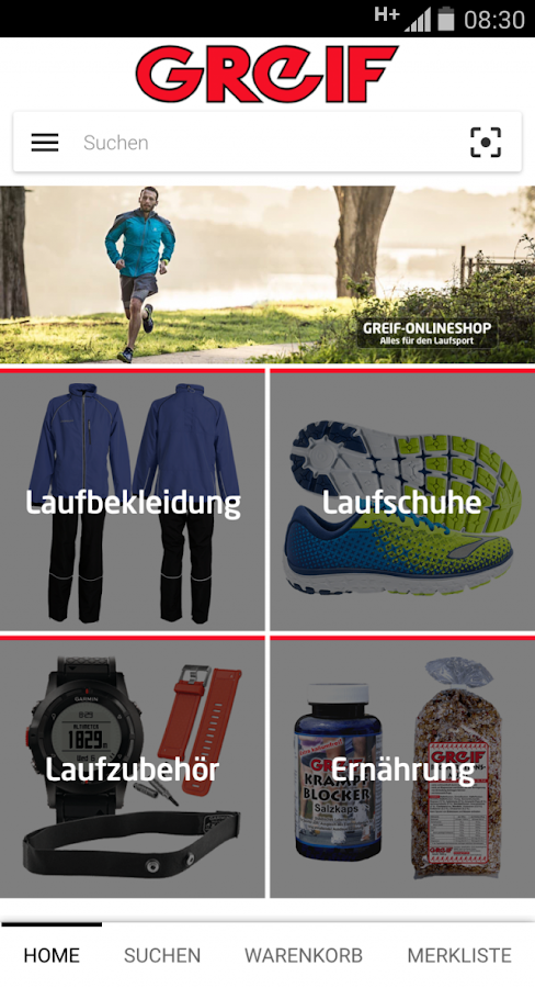 Greif Onlineshop- screenshot