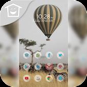Zebra launch hot air balloon t