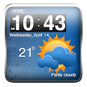 Cool Weather Clock Widgets icon