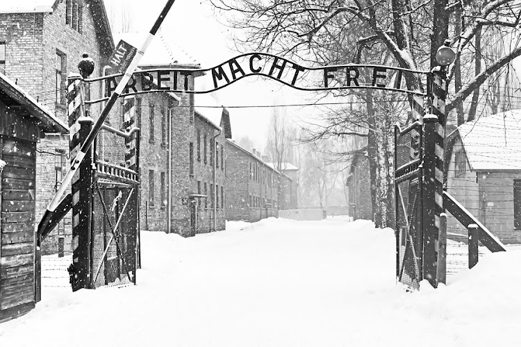 Sing Arbeit macht frei (Work liberates) in Auschwitz II Birkenau concentration camp located in the west of Krakow, Poland. Picture: ISTOCK