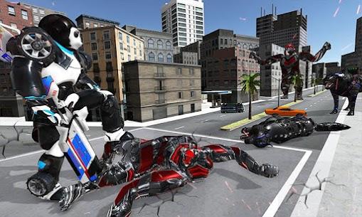 Panda Robot Car Game: Police Car Robot Transform 4
