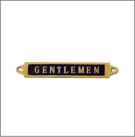Mässingsskylt - Gentlemen