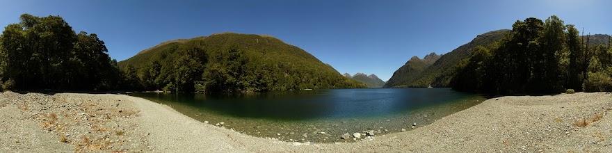 Photo: New Zealand, Southland, Fiordland National Park, Milford Road, Lake Gun