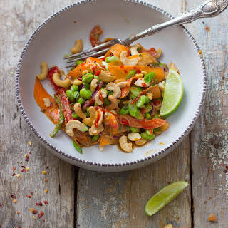 Thai Veggie Salad + Peanut Dressing.