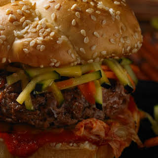 Sesame Cucumber Sriracha Burger.