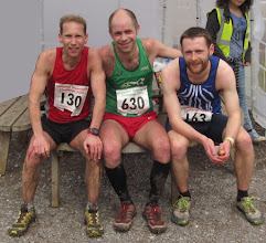 Photo: The first 3 finishers in the 20 miler ...