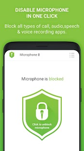 Microphone Block Free -Anti malware & Anti spyware Screenshot