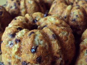 No-flour Banana Chocolate Chip Oatmeal Mini Bundts Recipe