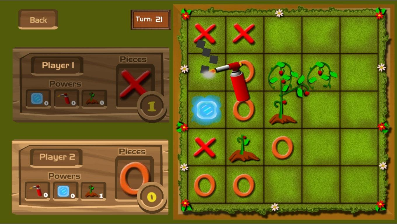 Tictactoe Superpowers - free game. Play now!- screenshot