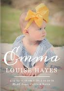 Emma's Birth Announcement - Baby Card item