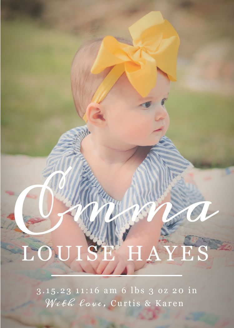 Emma's Birth Announcement - New Baby Announcement Template