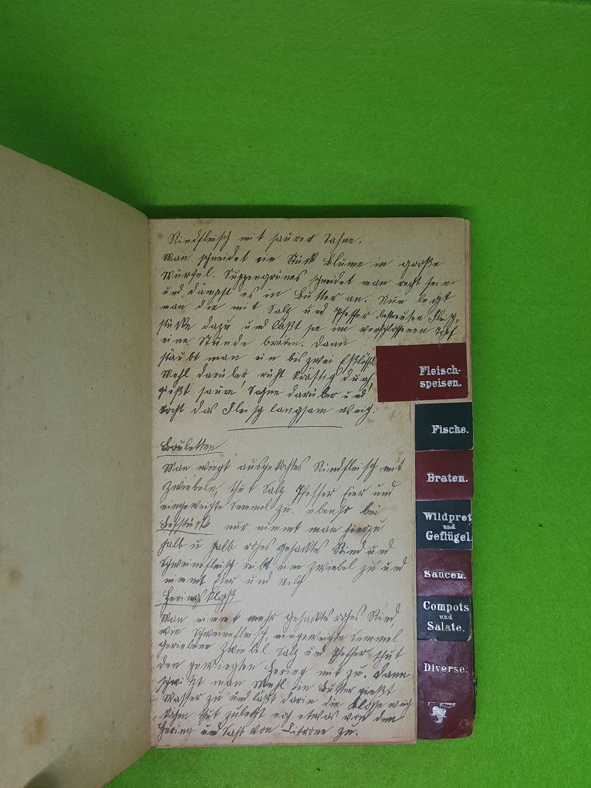 Rezeptbuch von 1907 - Fleischspeisen