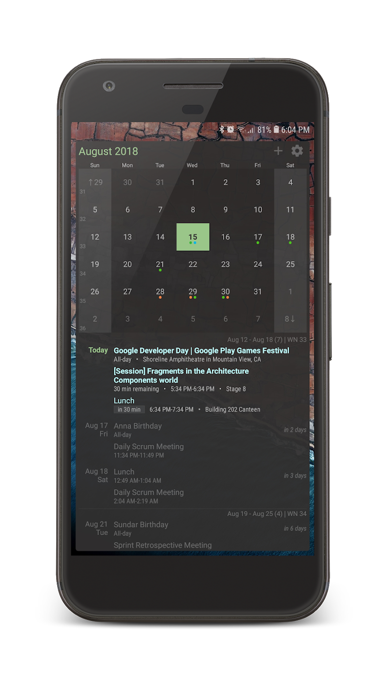 Your Calendar Widget Screenshot 1