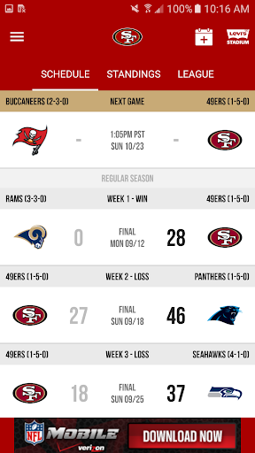 San Francisco 49ers Screenshot