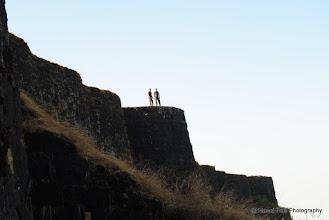 Photo: Raman and Abhijit on Walls of Sanjivani Machi