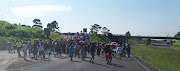 Hundreds of angry shack dwellers embarked on protests along the M19 highway in Durban on Monday April 29 2019.