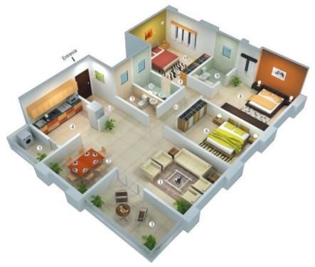 3D house plan designs 1.8 Screenshots 3