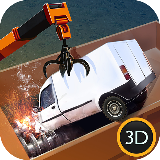 Car Crushing Junk Truck Sim 3D