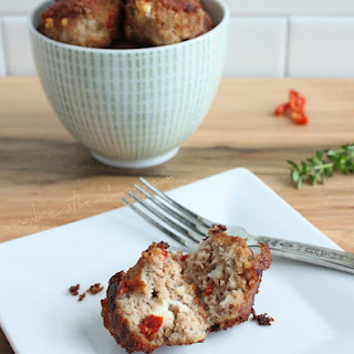 Sun-dried Tomato & Feta Meatballs (Low Carb & Gluten Free).