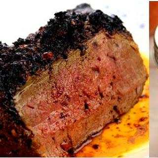 Beef Sirloin Tri-Tip Roast And Chile Garlic Sauce.