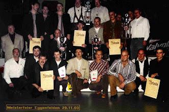 Photo: 2003: 2. Bayerischer Meister Mannschaft unverbaut