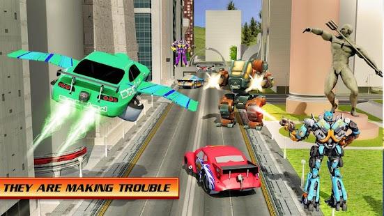 Flying Robot Car War Simulator - náhled