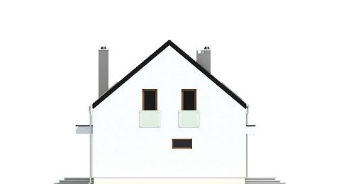 Sosnówka bez garażu bliźniak B-BL2 - Elewacja lewa