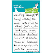 Lawn Fawn Clear Stamps 4X6 - Happy Everything