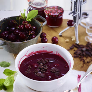 Cherry Compote with Chocolate