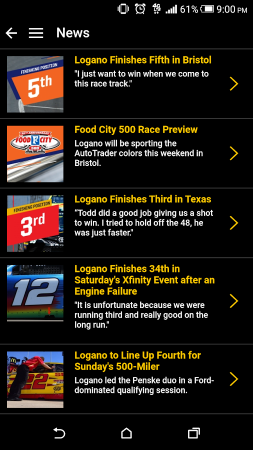 Joey Logano Official App- screenshot