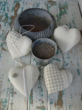Photo: Cuori natural con imbottitura e lavanda
