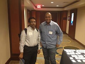 Photo: Chida Sadayappan and Raja Rao in DC