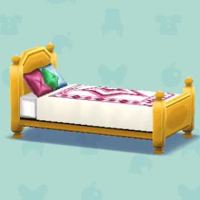 カントリーなベッドの画像