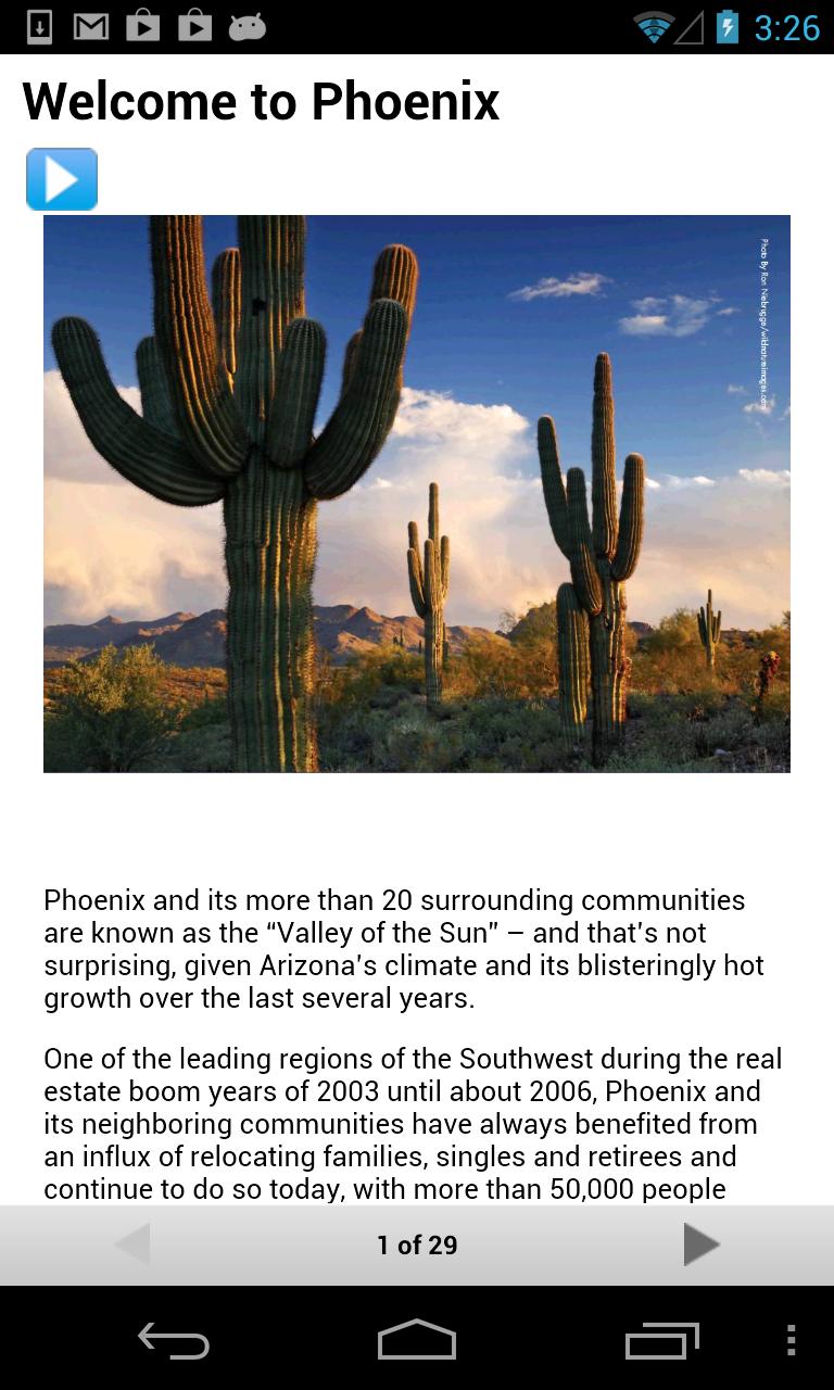 Скриншот Phoenix Relocation Guide