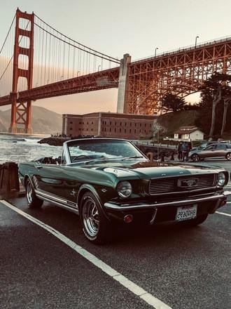 Stunning 1966 Mustang Convertible Hire CA