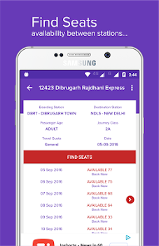 Mobile Ticket Booking (IRCTC)