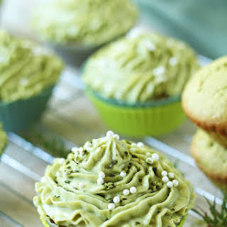 Matcha Cupcakes with Green Tea Cream Cheese Frosting.