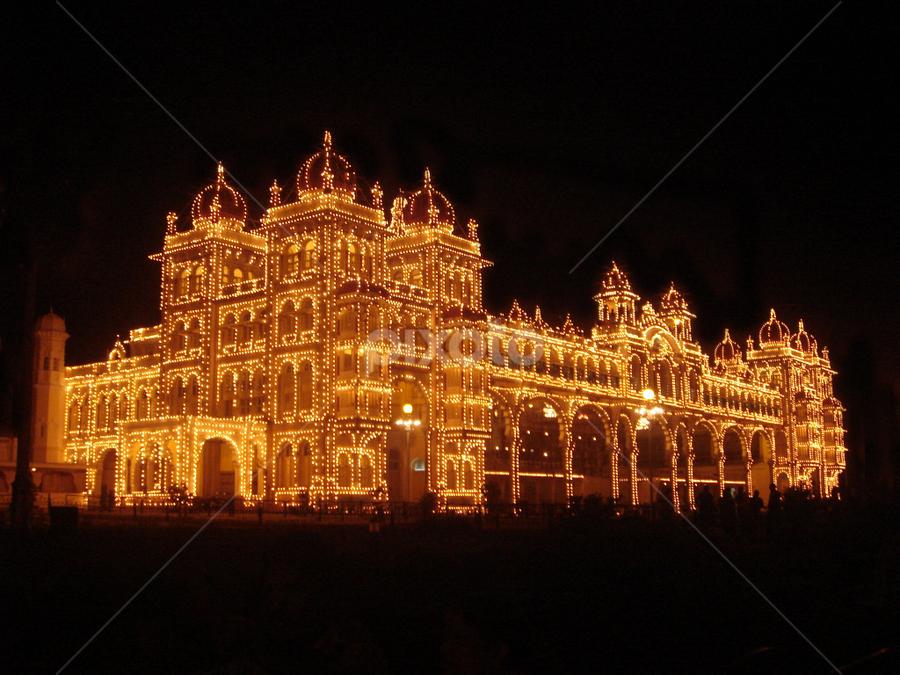 Mysore Palace, India by Ranjit Laxman - Buildings & Architecture Public & Historical ( lighting, decoration, mysore, palace, illumination )