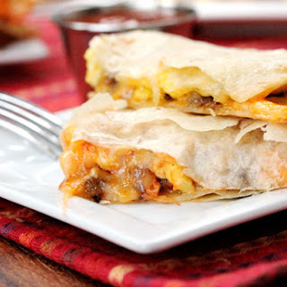 Crispy Breakfast Quesadillas