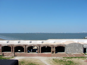 Photo: View of Charleston from inside Fort Sumter