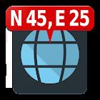 Mapa Coordenadas icon