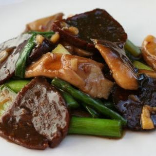 Seitan and Mushrooms in Oyster Sauce
