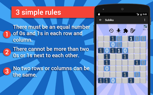 Subiku : the binary sudoku - screenshot