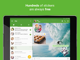 Screenshot of icq video calls & chat