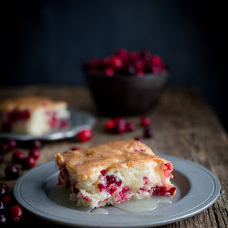 Cranberry Pudding Cake with Butter Sauce Recipe