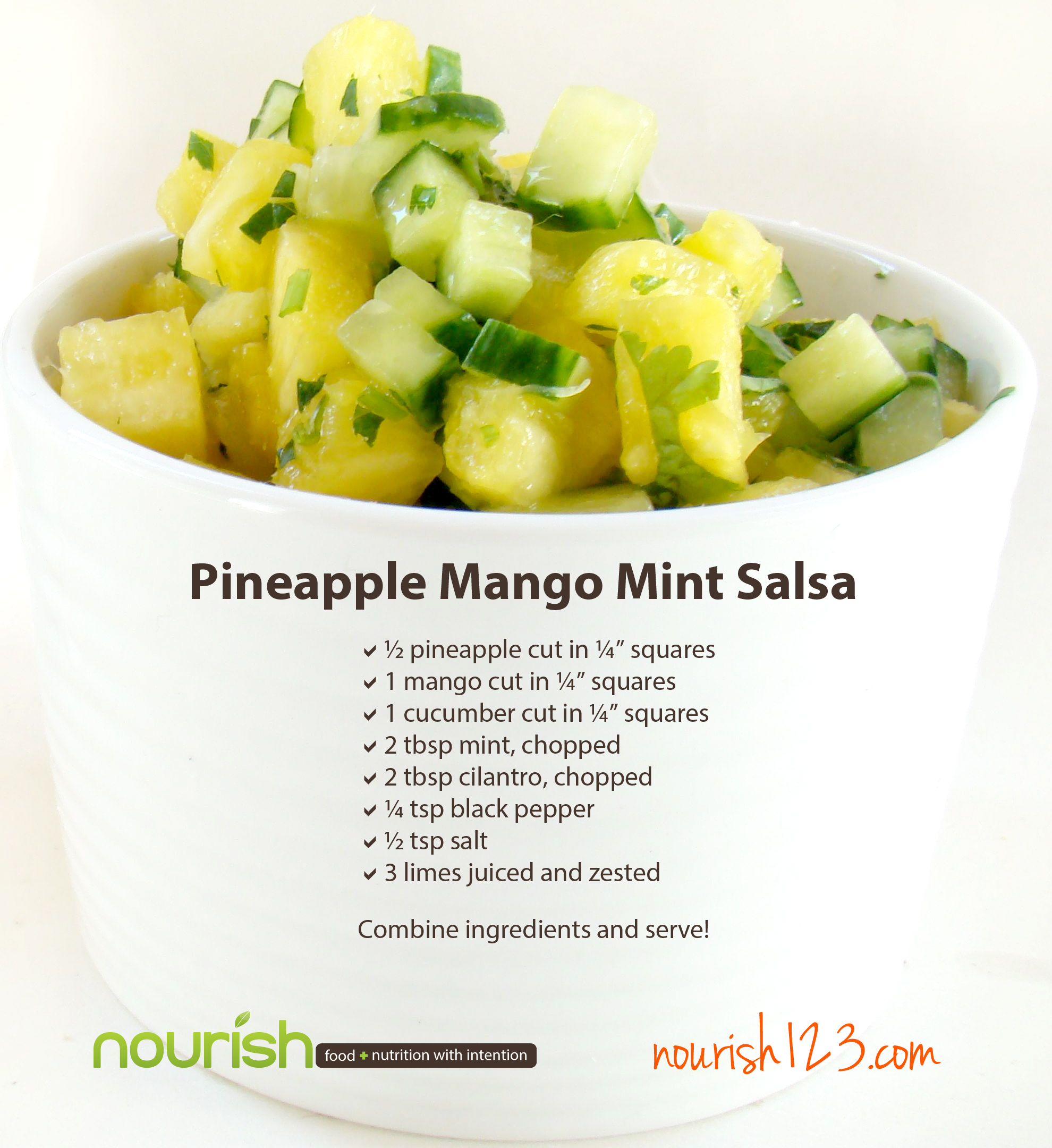 Nourish Recipes Pineapple Salsa